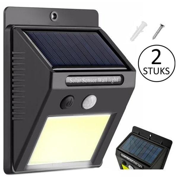 Solar buitenlamp met bewegingssensor en 48 leds - 2 stuks