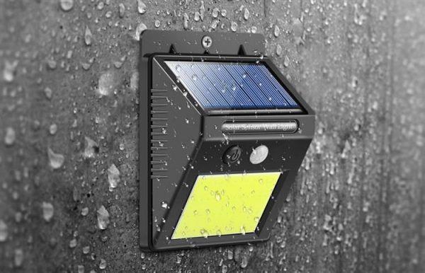 Solar buitenlamp met sensor en 48 leds